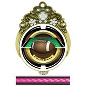 "Hasty 3"" Tiara Medal 2"" Saturn Football Mylar"