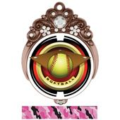 "Hasty 3"" Tiara Medal 2"" Saturn Softball Mylar"