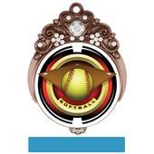 """Hasty Awards Tiara 3"""" Softball Saturn Medals"""