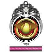 "Hasty 3"" Tiara Medal 2"" Saturn Softball Mylar"