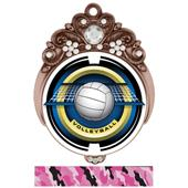 "Hasty 3"" Tiara Medal 2"" Saturn Volleyball Mylar"