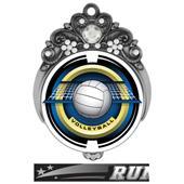 "Hasty 3"" Tiara Medal 2"" Saturn Volleyball Mylar"