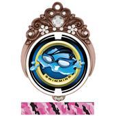 "Hasty 3"" Tiara Medal 2"" Saturn Swimming Mylar"