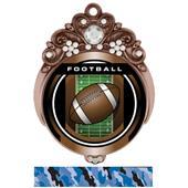 "Hasty 3"" Tiara Medal 2"" Legacy Football Mylar"