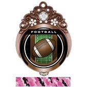 "Hasty Awards Tiara 3"" Football Legacy Medals"