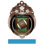 "Hasty 3"" Tiara Medal 2"" Legacy Football Mylar"