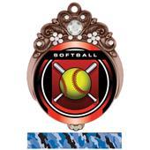"Hasty 3"" Tiara Medal 2"" Legacy Softball Mylar"