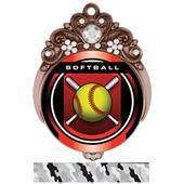 "Hasty Awards Tiara 3"" Softball Legacy Medals"