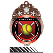 "Hasty Awards Tiara 3"" Softball Legacy Medals"
