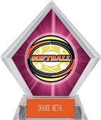 Awards Classic Softball Pink Diamond Ice Trophy