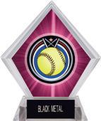Awards Eclipse Softball Pink Diamond Ice Trophy