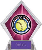 Awards Eclipse Softball Pink Diamond Ice Trophy