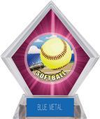 Awards HD Softball Pink Diamond Ice Trophy