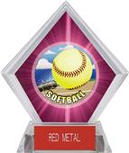 Awards HD Softball Pink Diamond Ice Trophy