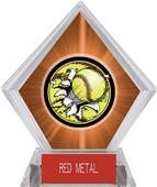 Awards Bust-Out Softball Orange Diamond Ice Trophy