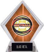 Awards Classic Softball Orange Diamond Ice Trophy