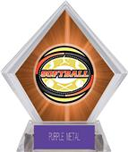 Awards Classic Softball Orange Diamond Ice Trophy