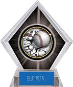 Awards Bust-Out Baseball Black Diamond Ice Trophy