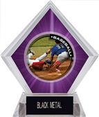 Awards P.R.2 Baseball Purple Diamond Ice Trophy