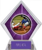 Awards P.R.2 Baseball Purple Diamond Ice Trophy