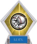 Awards Bust-Out Baseball Yellow Diamond Ice Trophy