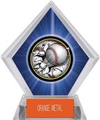 Awards Bust-Out Baseball Blue Diamond Ice Trophy