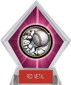 Awards Bust-Out Baseball Pink Diamond Ice Trophy