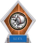 Awards Bust-Out Baseball Orange Diamond Ice Trophy