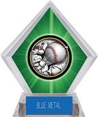 Awards Bust-Out Baseball Green Diamond Ice Trophy