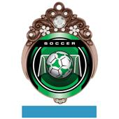 """Hasty Awards Tiara 3"""" Soccer Legacy Medals"""