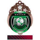 "Hasty Awards 3"" Tiara Medal Legacy Soccer Mylar"