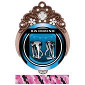 "Hasty 3"" Tiara Medal 2"" Legacy Swimming Mylar"