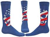 Wright Avenue American Skull Novelty Crew Socks