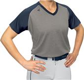 Easton V-Neck Short Sleeve Raglan Softball Jerseys