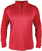 Badger Sport Pro Heather Sport 1/4 Zip Shirt