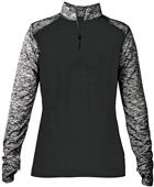 Badger Sport Ladies Sport Blend 1/4 Zip Shirt