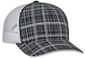 Pacific Headwear Crosshatch Mesh Trucker Cap
