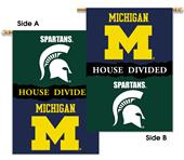 Collegiate Michigan/Michigan State Divided Banner