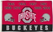 Collegiate Ohio State Champ Years 3' x 5' Flag