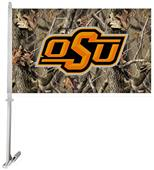 Collegiate Oklahoma State Realtree Camo Car Flag