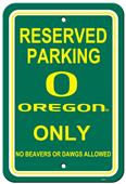 Collegiate Oregon Plastic Parking Sign