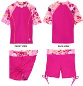 Tuga Swimwear Retro Swirl Surfer Girl 2pc Swim Set