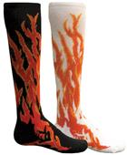 Red Lion Mismatched MX Flame Socks