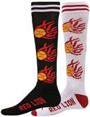 Red Lion Mismatched MX Hot Flame Softball Socks