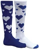 Red Lion Mismatched MX Hearts Socks - Closeout