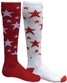 Red Lion Mismatched MX Stars Socks