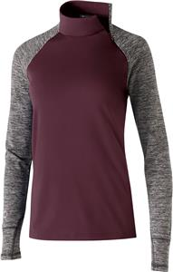 MAROON/ CARBON HEATHER