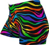 Gem Gear Compression Magic Zebra Spandex Shorts