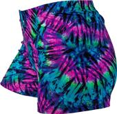 Gem Gear Compression Neon Tie Dye Spandex Shorts