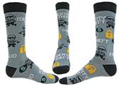 Wright Avenue Fraud Novelty Cotton Crew Socks